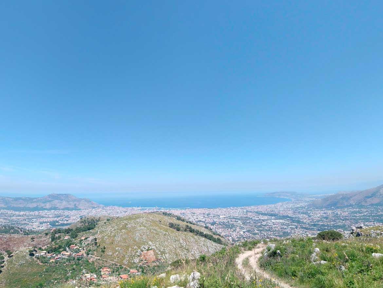 vista dal Castellaccio di Monreale