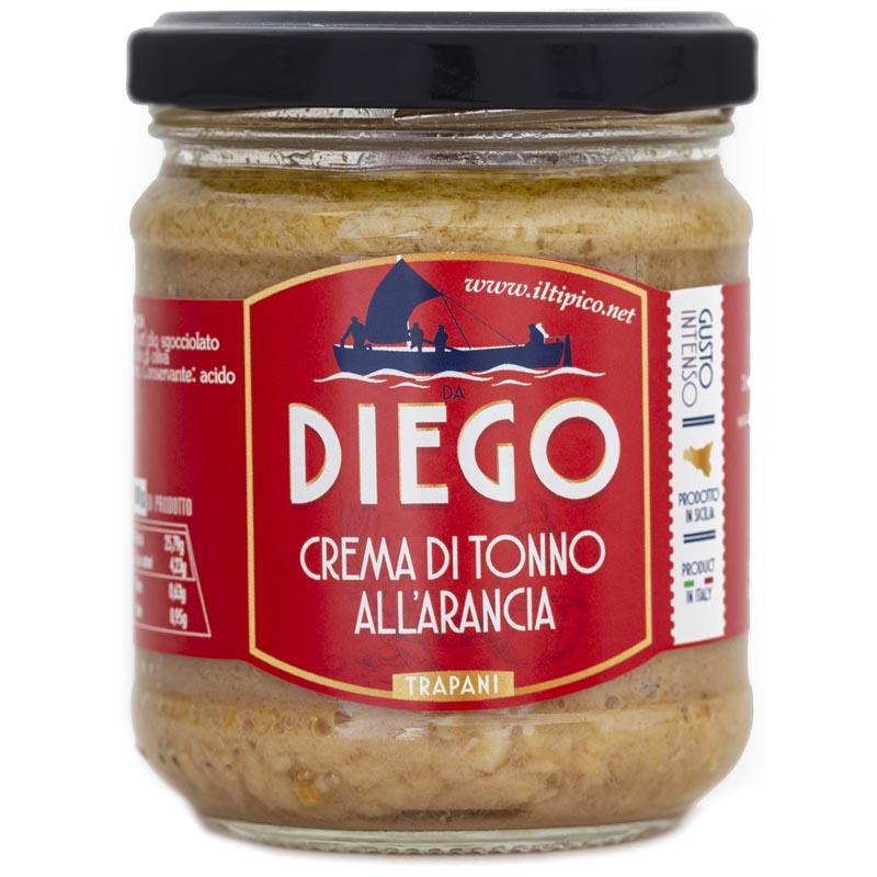 iltipico prodotti tipici siciliani trapani crema di tonno all'arancia da diego