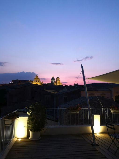 tramonto in terrazza