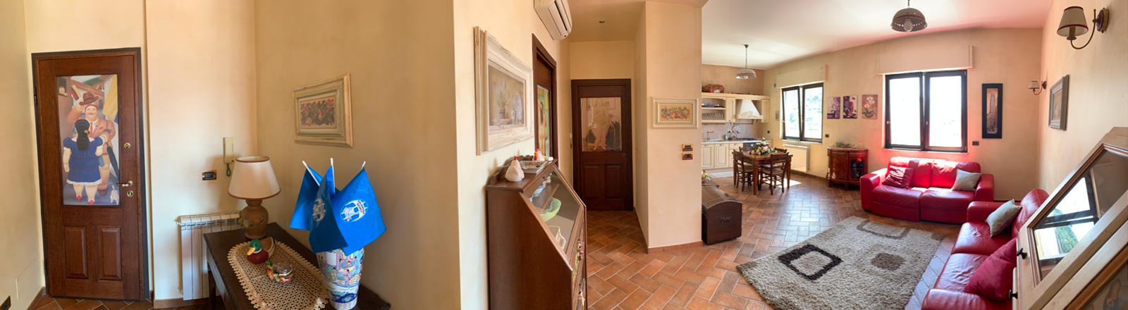 entrata, salone e cucina panoramica
