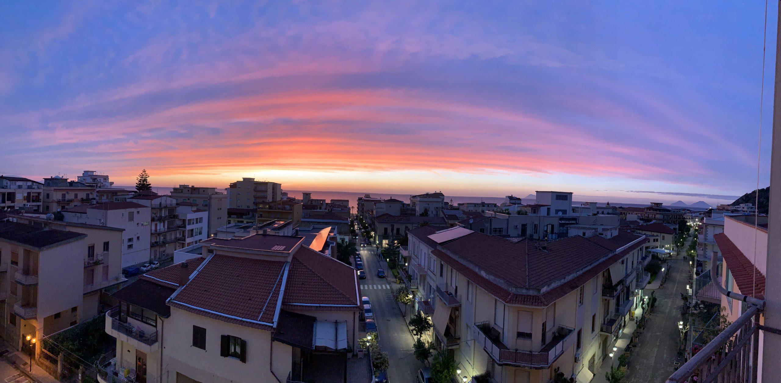 tramonto sesto piano panoramica